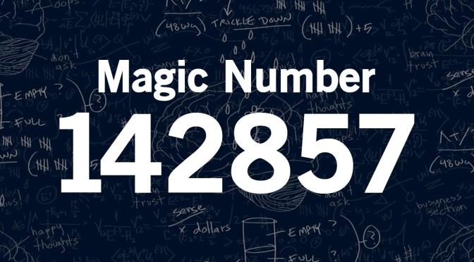 দারুণ একটা সংখ্যা 142857!